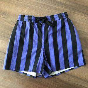 Funk Print High Waist Shorts
